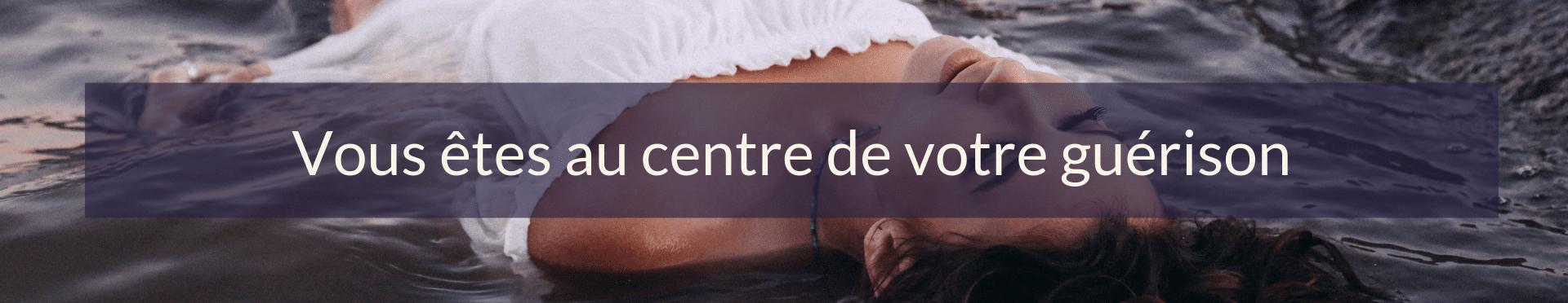 Citation de l'article tourisme spirituel : Vous êtes au centre de votre guérison